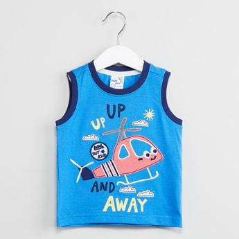 MAX Applique Detailed Sleeveless T-shirt