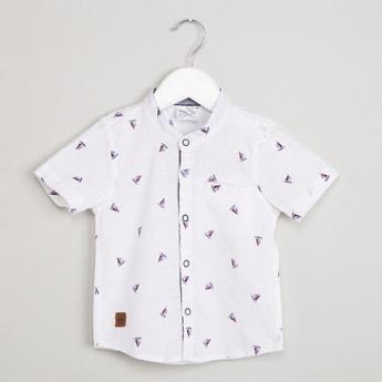 MAX All-Over Print Mandarin Collar Shirt