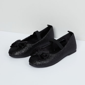 MAX Shimmery Ballerina with Strap Detailing