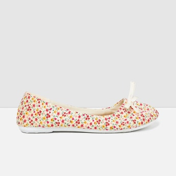 MAX Floral Print Ballerinas with Tie-Up
