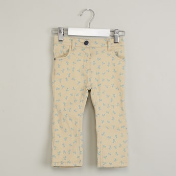 MAX All-Over Print Flat-Front Trousers