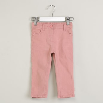 MAX Solid Flat-Front Trousers