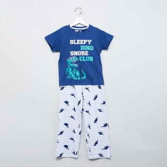 MAX Printed Lounge T-shirt & Pyjamas - Set of 2 Pcs.