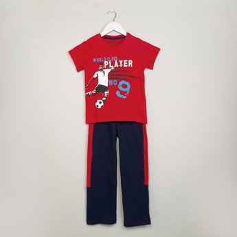 MAX Graphic Print T-shirt & Trackpants Set