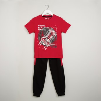 MAX Graphic Print T-shirt & Joggers Set