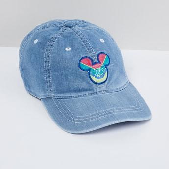 MAX Mickey Embroidered Denim Cap