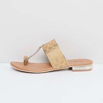 MAX Jacquard Detail Flat Sandals