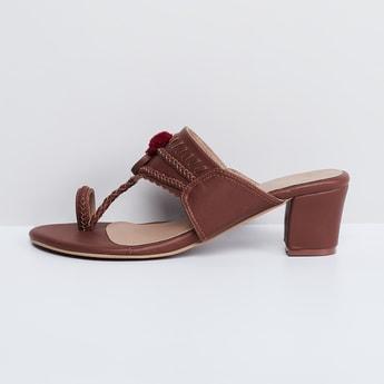 MAX Toe-Ring Block Heels with Tassels