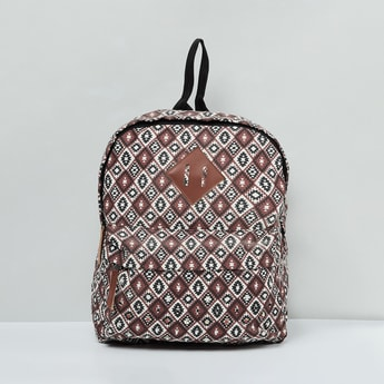 MAX Printed Backpack with Zip Pockets