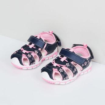 MAX Floral Print Velcro Closure Sandals