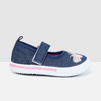 MAX Embroidered Denim Mary Janes