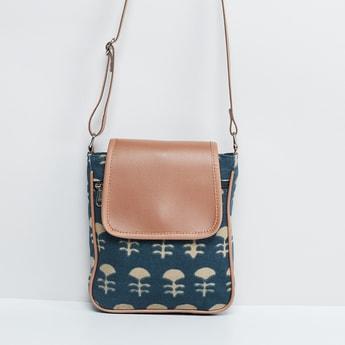 MAX Printed Flap Closure Sling Bag