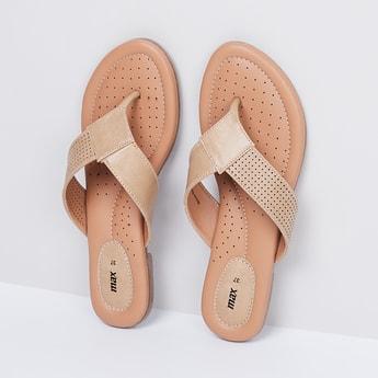 MAX Polka-Dot Print Thong Sandals