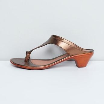 MAX Metallic Strap Block Heels