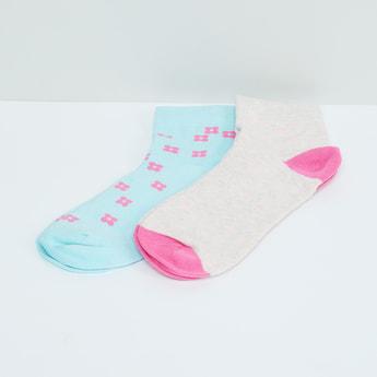 MAX Floral Print Socks - Pack of 2