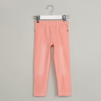MAX Solid Elasticized Waist Jeggings