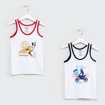 MAX Printed Knitted Vest- Pack of 2