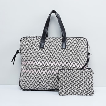 MAX Printed Laptop Bag with Pouch