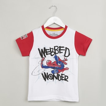 MAX Spiderman Print Short Sleeve T-shirt