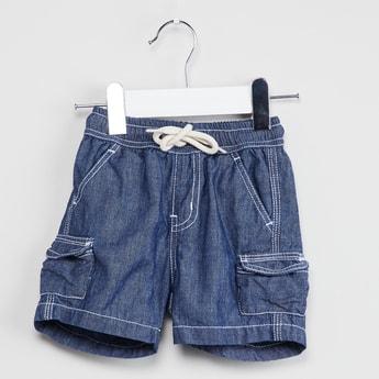 MAX Denim Shorts wirh Cargo Pockets