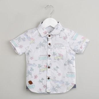 MAX Tropical Print Short Sleeve Shirt