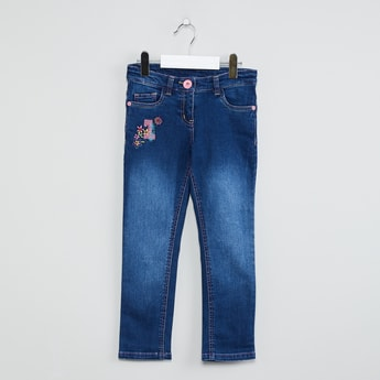 MAX Embroidered Stonewashed Jeans