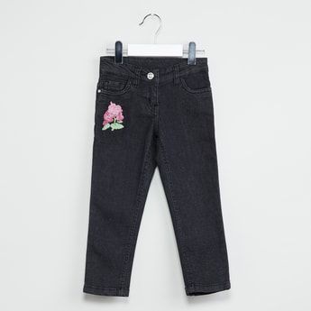 MAX Floral Applique Detail Jeans