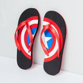 MAX Captain America Print Flip-Flops