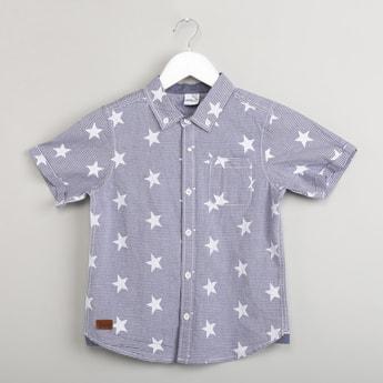 MAX Printed Button-Down Shirt