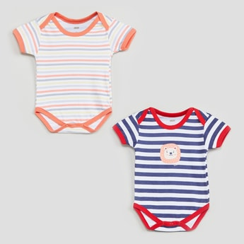 MAX Striped Bodysuits- Pack of 2