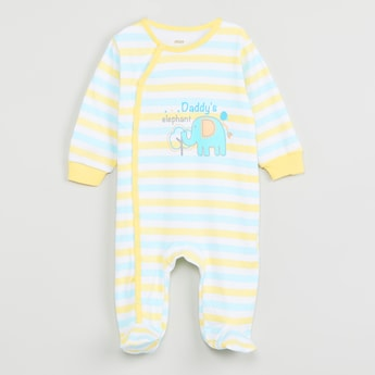 MAX Striped Full Sleeves Sleepsuit