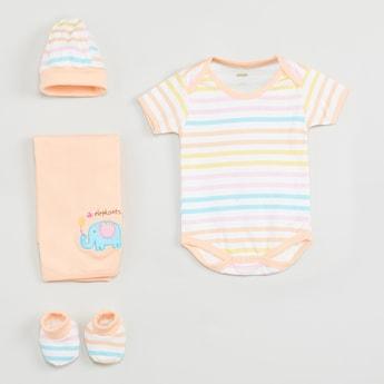 MAX Striped Infant Gift Set- 4 Pcs.