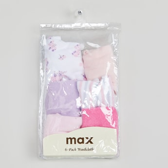 MAX Solid Washcloth- Pack of 6 Pcs.