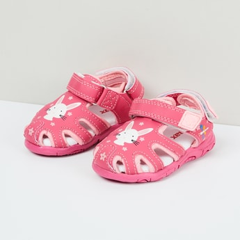 MAX Bunny Print Sandals with Cut-outs