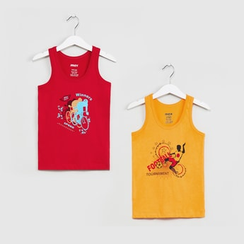 MAX Printed Round Neck Vest- Set of 2 Pcs.