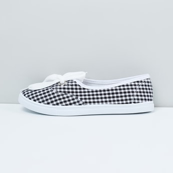 MAX Checked Slip-On Shoes