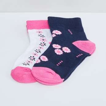 MAX Woven Design Ankle Lenght Socks- 2 Pairs