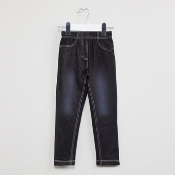 MAX Stonewashed Cotton Stretch Jeggings