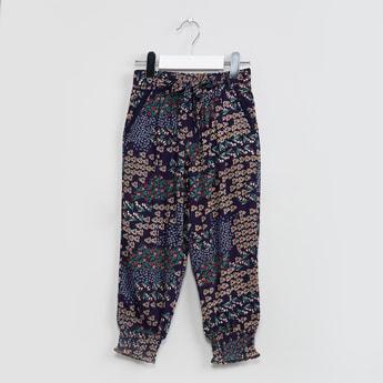 MAX Floral Print Cuffed Pants