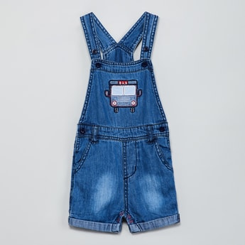 MAX Denim Romper with Embroidery