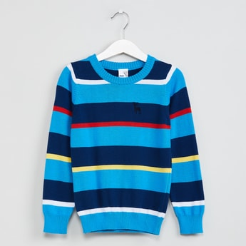 MAX Striped Round Neck Sweater