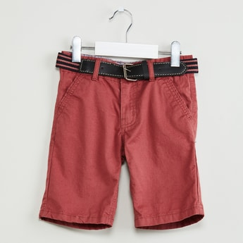 MAX Solid Shorts with Waist-belt