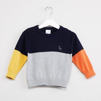 MAX Colourblock Long Sleeves Sweater