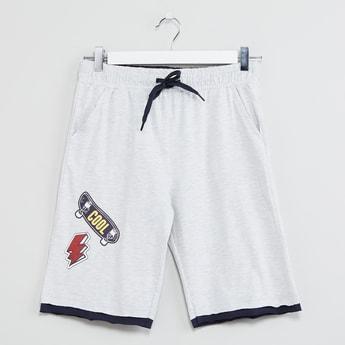 MAX Patch Printed Drawstring Waist Shorts