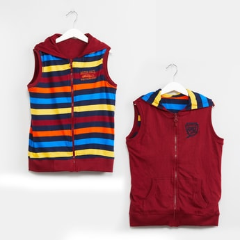 MAX Reversible Sleeveless Reversible Sweatshirt