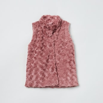 MAX Rosette Fur Textured Jacket