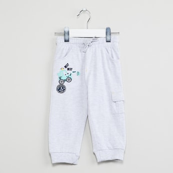 MAX Graphic Applique Heathered Joggers