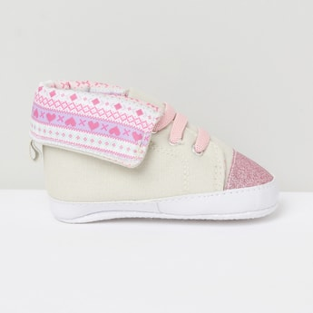 MAX Shimmery Lace-Up Shoes-0-6m