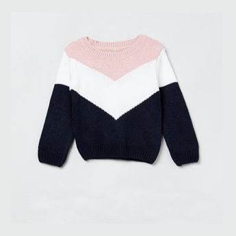 MAX Colourblock Full Sleeves Sweater