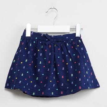 MAX Pineapple Print A-line Skirt